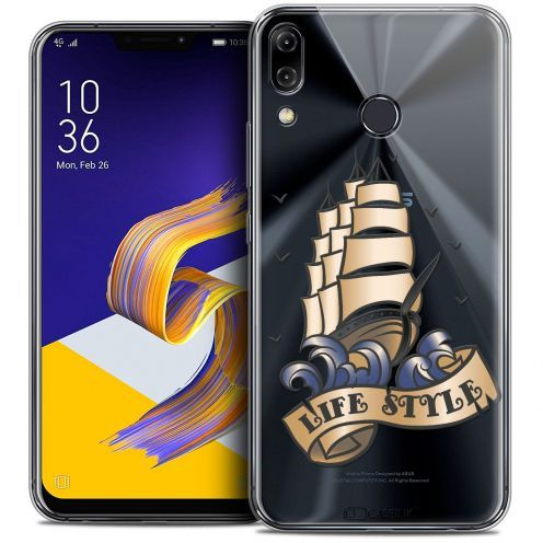 "Extra Slim Crystal Gel Asus Zenfone 5z ZS620KL (6.2"") Case Tatoo Lover Life Style"