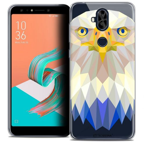 "Extra Slim Crystal Gel Asus Zenfone 5 LITE ZC600KL (6.0"") Case Polygon Animals Eagle"