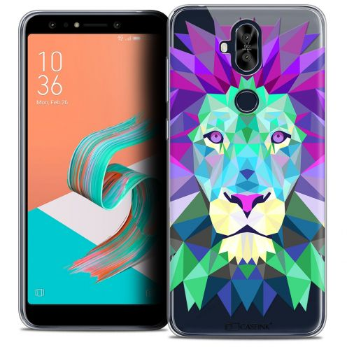 "Extra Slim Crystal Gel Asus Zenfone 5 LITE ZC600KL (6.0"") Case Polygon Animals Lion"