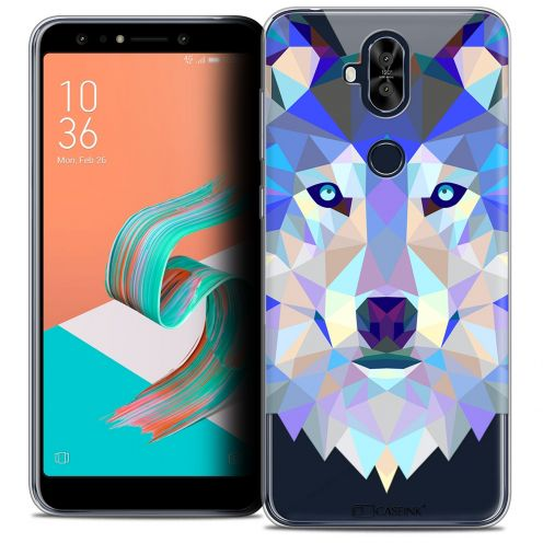"Extra Slim Crystal Gel Asus Zenfone 5 LITE ZC600KL (6.0"") Case Polygon Animals Wolf"