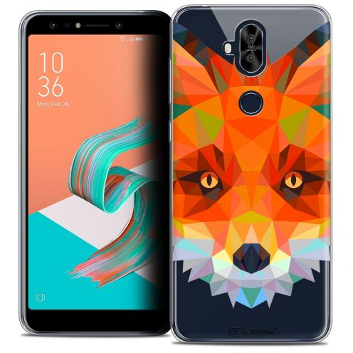 "Extra Slim Crystal Gel Asus Zenfone 5 LITE ZC600KL (6.0"") Case Polygon Animals Fox"