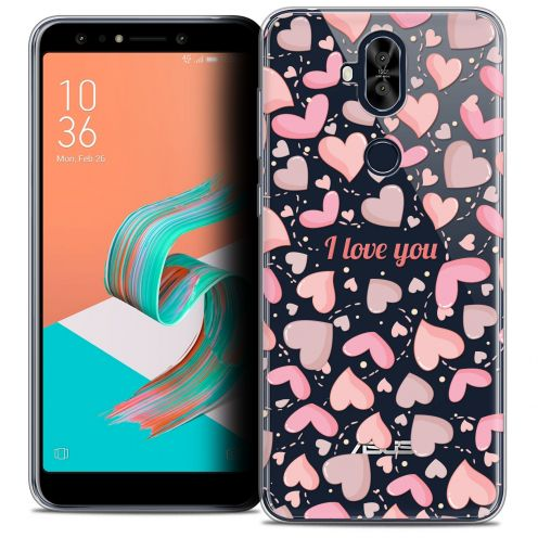 "Extra Slim Crystal Gel Asus Zenfone 5 LITE ZC600KL (6.0"") Case Love I Love You"