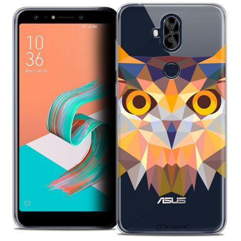 "Extra Slim Crystal Gel Asus Zenfone 5 LITE ZC600KL (6.0"") Case Polygon Animals Owl"