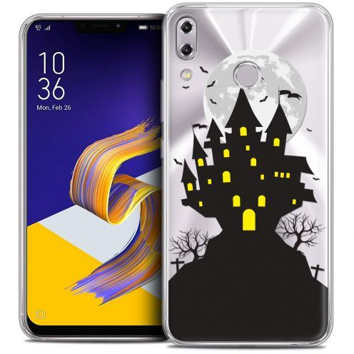"Extra Slim Crystal Gel Asus Zenfone 5z ZS620KL (6.2"") Case Halloween Castle Scream"
