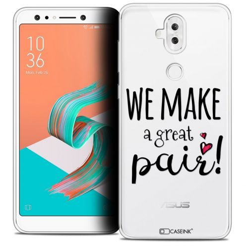 "Extra Slim Crystal Gel Asus Zenfone 5 LITE ZC600KL (6.0"") Case Love We Make Great Pair"