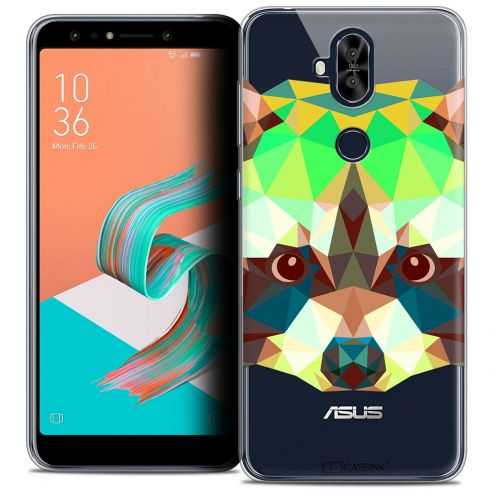 "Extra Slim Crystal Gel Asus Zenfone 5 LITE ZC600KL (6.0"") Case Polygon Animals Raton Laveur"