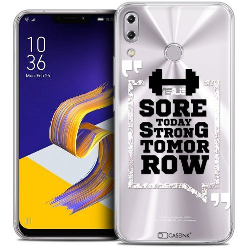 """Extra Slim Crystal Gel Asus Zenfone 5 ZE620KL (6.2"""") Case Quote Strong Tomorrow"""
