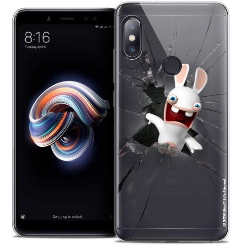"Crystal Gel Xiaomi Redmi Note 5 (5.99"") Case Lapins Crétins™ Breaking Glass"