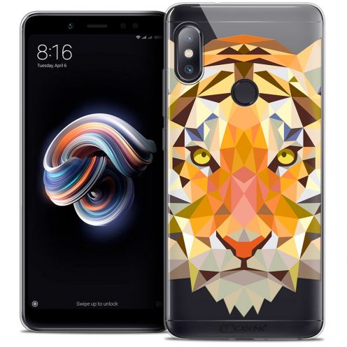 "Extra Slim Crystal Gel Xiaomi Redmi Note 5 (5.99"") Case Polygon Animals Tiger"