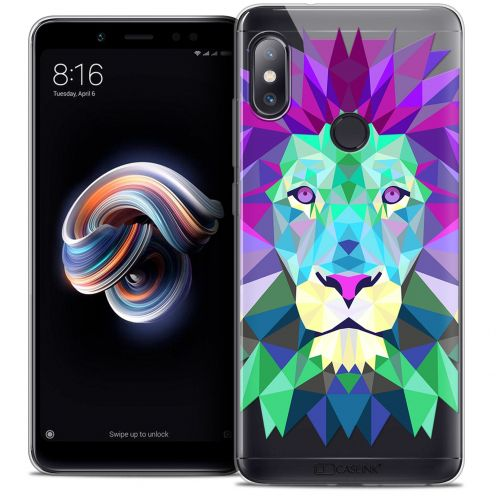 "Extra Slim Crystal Gel Xiaomi Redmi Note 5 (5.99"") Case Polygon Animals Lion"