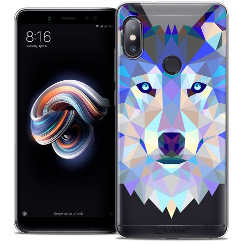 "Extra Slim Crystal Gel Xiaomi Redmi Note 5 (5.99"") Case Polygon Animals Wolf"