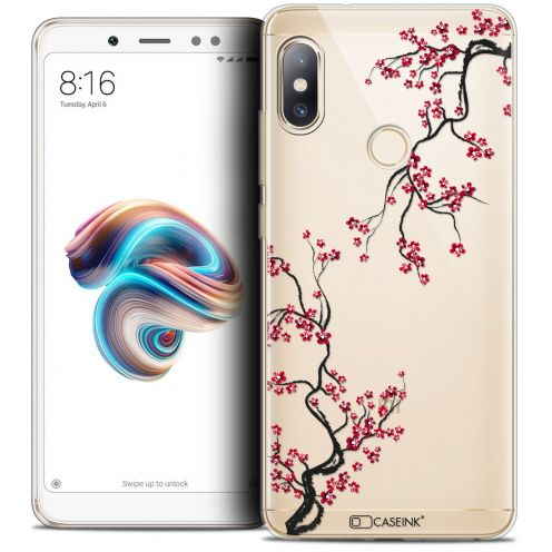 "Extra Slim Crystal Gel Xiaomi Redmi Note 5 (5.99"") Case Summer Sakura"