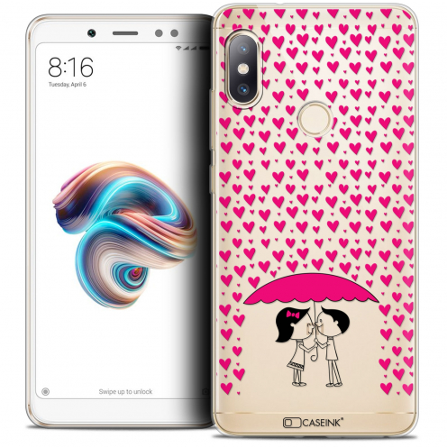 "Extra Slim Crystal Gel Xiaomi Redmi Note 5 (5.99"") Case Love Pluie d'Amour"