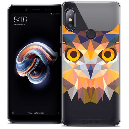 "Extra Slim Crystal Gel Xiaomi Redmi Note 5 (5.99"") Case Polygon Animals Owl"