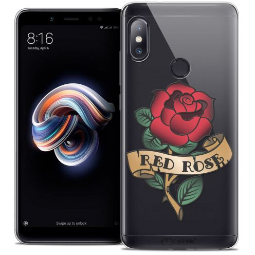 "Extra Slim Crystal Gel Xiaomi Redmi Note 5 (5.99"") Case Tatoo Lover Red Rose"