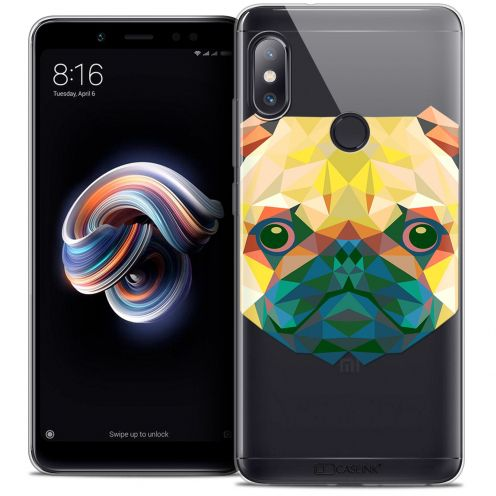 "Extra Slim Crystal Gel Xiaomi Redmi Note 5 (5.99"") Case Polygon Animals Dog"