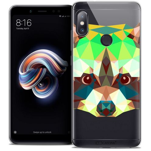 "Extra Slim Crystal Gel Xiaomi Redmi Note 5 (5.99"") Case Polygon Animals Raton Laveur"