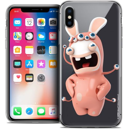 Crystal Gel Apple iPhone X (10) Case Lapins Crétins™ Extraterrestre