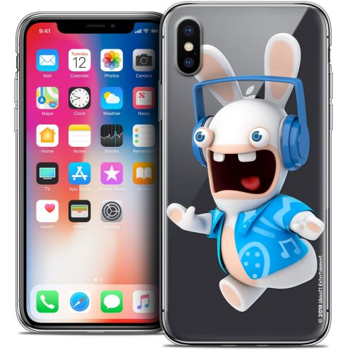 Crystal Gel Apple iPhone X (10) Case Lapins Crétins™ Techno Lapin