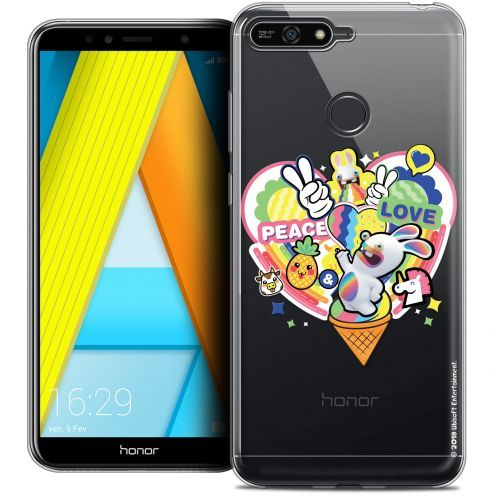 """Crystal Gel Honor 7A (5.7"""") Case Lapins Crétins™ Peace And Love"""