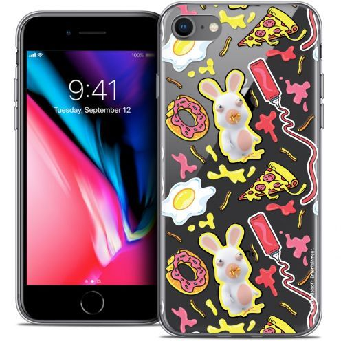 "Crystal Gel Apple iPhone 8 (4.7"") Case Lapins Crétins™ Egg Pattern"