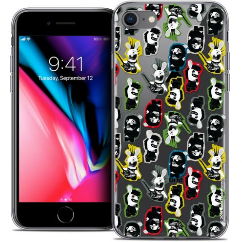 "Crystal Gel Apple iPhone 8 (4.7"") Case Lapins Crétins™ Punk Pattern"