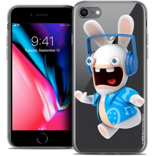 "Crystal Gel Apple iPhone 7 (4.7"") Case Lapins Crétins™ Techno Lapin"