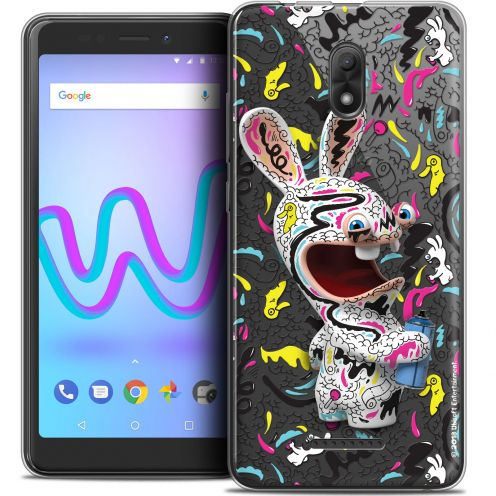 """Crystal Gel Wiko Jerry 3 (5.45"""") Case Lapins Crétins™ Tag"""