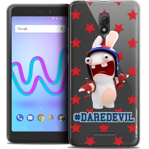 """Crystal Gel Wiko Jerry 3 (5.45"""") Case Lapins Crétins™ Dare Devil"""