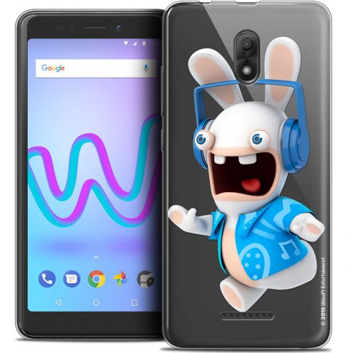 """Crystal Gel Wiko Jerry 3 (5.45"""") Case Lapins Crétins™ Techno Lapin"""