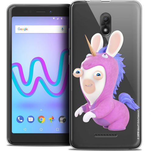 """Crystal Gel Wiko Jerry 3 (5.45"""") Case Lapins Crétins™ Licorne"""