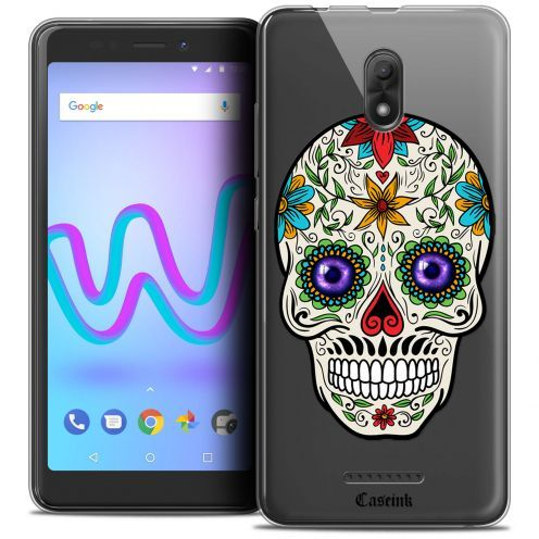 "Extra Slim Crystal Gel Wiko Jerry 3 (5.45"") Case Skull Maria's Flower"