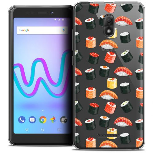 "Extra Slim Crystal Gel Wiko Jerry 3 (5.45"") Case Foodie Sushi"