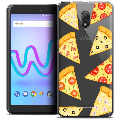 "Extra Slim Crystal Gel Wiko Jerry 3 (5.45"") Case Foodie Pizza"
