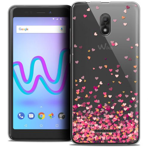 "Extra Slim Crystal Gel Wiko Jerry 3 (5.45"") Case Sweetie Heart Flakes"