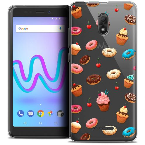 "Extra Slim Crystal Gel Wiko Jerry 3 (5.45"") Case Foodie Donuts"