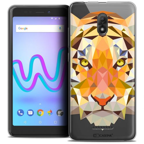 "Extra Slim Crystal Gel Wiko Jerry 3 (5.45"") Case Polygon Animals Tiger"