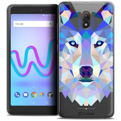 "Extra Slim Crystal Gel Wiko Jerry 3 (5.45"") Case Polygon Animals Wolf"