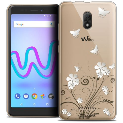 """Extra Slim Crystal Gel Wiko Jerry 3 (5.45"""") Case Summer Papillons"""
