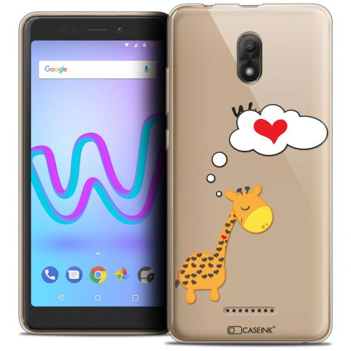 "Extra Slim Crystal Gel Wiko Jerry 3 (5.45"") Case Love Girafe Amoureuse"