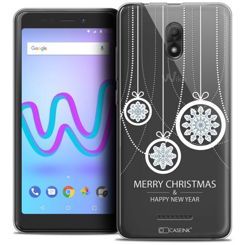 "Extra Slim Crystal Gel Wiko Jerry 3 (5.45"") Case Noël 2017 Christmas Balls"