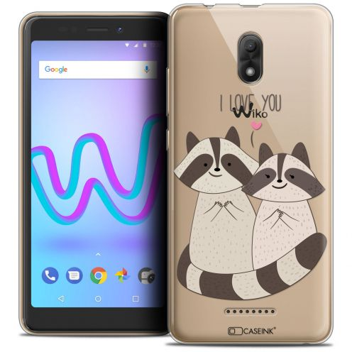 "Extra Slim Crystal Gel Wiko Jerry 3 (5.45"") Case Sweetie Racoon Love"
