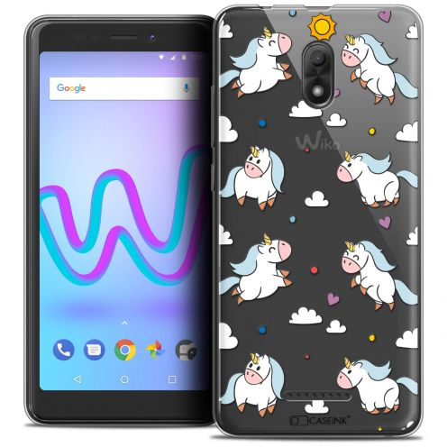 "Extra Slim Crystal Gel Wiko Jerry 3 (5.45"") Case Fantasia Licorne In the Sky"