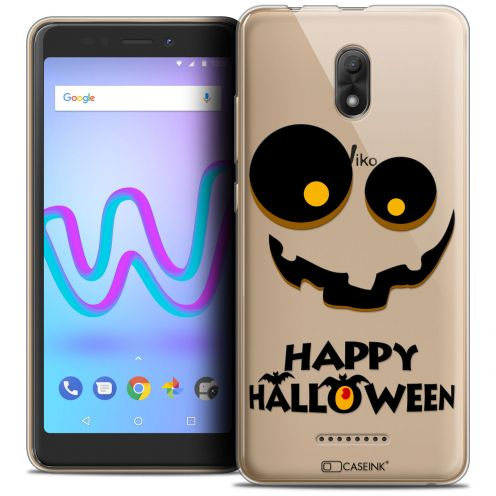 "Extra Slim Crystal Gel Wiko Jerry 3 (5.45"") Case Halloween Happy"