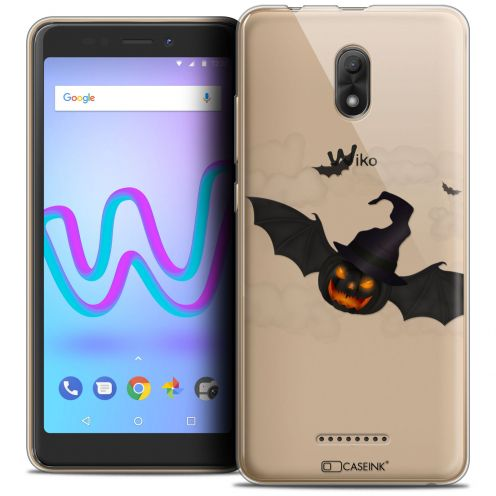 "Extra Slim Crystal Gel Wiko Jerry 3 (5.45"") Case Halloween Chauve Citrouille"
