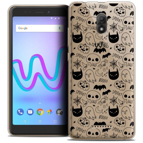 "Extra Slim Crystal Gel Wiko Jerry 3 (5.45"") Case Halloween Spooky"
