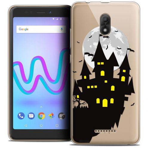 "Extra Slim Crystal Gel Wiko Jerry 3 (5.45"") Case Halloween Castle Dream"