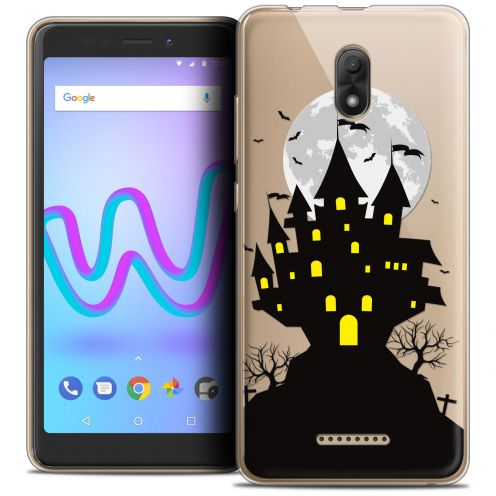 "Extra Slim Crystal Gel Wiko Jerry 3 (5.45"") Case Halloween Castle Scream"