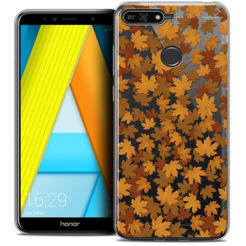 """Extra Slim Crystal Gel Honor 7A (5.7"""") Case Autumn 16 Feuilles"""