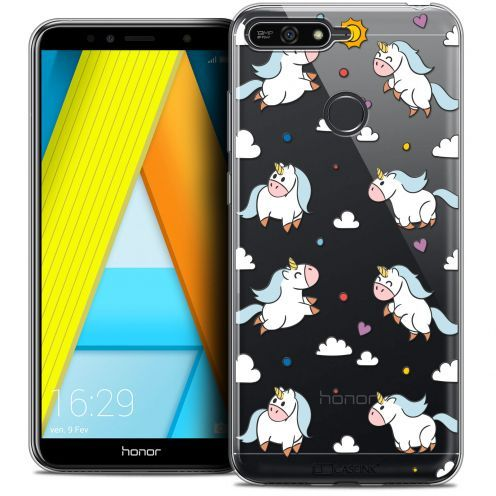 "Extra Slim Crystal Gel Honor 7A (5.7"") Case Fantasia Licorne In the Sky"